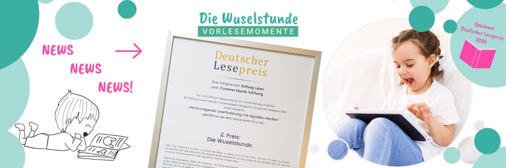 Deutscher Lesepreis für die Leseförderung mit digitalen Medien